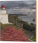 Trinidad Memorial Lighthouse After Storm Wood Print