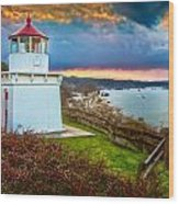 Trinidad Memorial Lighthouse Morning Wood Print