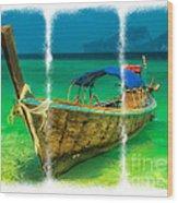 Triptych Longboat Wood Print