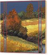 Trittico-sole Grigio Wood Print