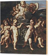 Triumph Of Cupid Wood Print