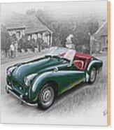 Triumph Tr-2 Sports Car Wood Print by David Kyte