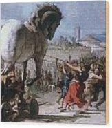 Trojan Horse Wood Print