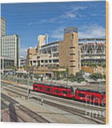 Trolley To Petco Park Wood Print