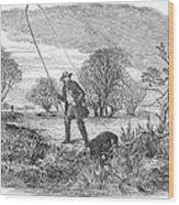 Trolling For Jack, 1850 Wood Print
