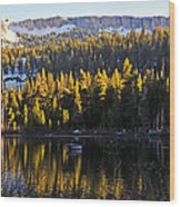 Trolling On Twin Lakes Wood Print