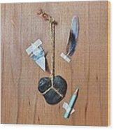 Trompe Loeil - How To Draw A Blue Bird Wood Print by Elena Kolotusha