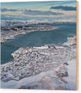 Tromso City Wood Print