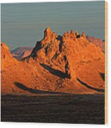 Trona Pinnacles Panorama Wood Print by Bob Christopher