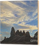 Trona Pinnacles Windswept Wood Print