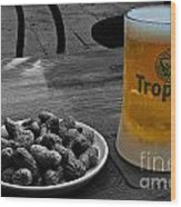 Tropical Beer Wood Print