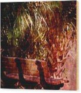 Tropical Bench Wood Print by Susanne Van Hulst