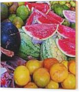 Tropical Colouring Wood Print