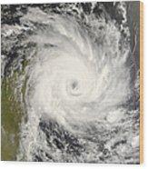 Tropical Cyclone Ivan Over Madagascar Wood Print
