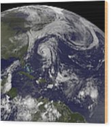 Tropical Cyclones Katia, Lee, Maria Wood Print