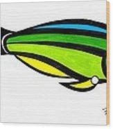 Tropical Fish Fantasy In Color  Wood Print