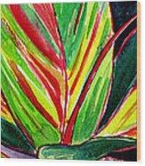 Tropical Foliage Wood Print