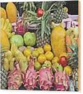Tropical Fruit Display  Wood Print
