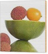 Tropical Fruits Wood Print