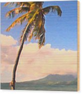 Tropical Island 2 - Painterly Wood Print