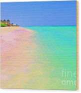 Tropical Island 7 - Painterly Wood Print by Wingsdomain Art and Photography