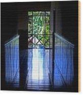 Tropical Lighting Wood Print