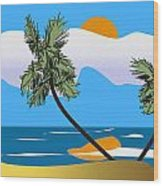 Tropical Outlook Wood Print