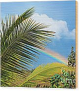 Tropical Rainbow Wood Print