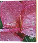 Tropical Rose Wood Print by Susan Herber