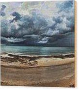 Tropical Seasonal Monsoon Rain V3 Wood Print