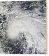 Tropical Storm Ida In The Caribbean Sea Wood Print