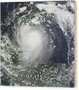 Tropical Storm Karl Over The Yucatan Wood Print