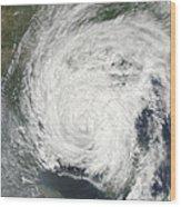 Tropical Storm Muifa Over China Wood Print
