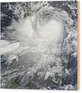 Tropical Storm Nock-ten Wood Print
