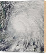 Tropical Storm Noel Over The Bahamas Wood Print