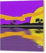 Tropical Sunrise Wood Print