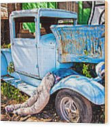 Trouble On Route 66 Wood Print