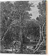 Trout Fishing, 1867 Wood Print by Granger