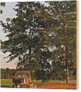 Truck And Tank 13 Wood Print