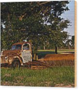 Truck And Tank 3 Wood Print