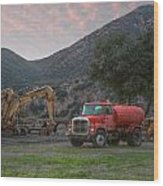 Truck And Tractors In Hdr Wood Print