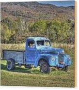Truck In A Field Wood Print