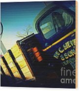 Truck On Route 66 Wood Print