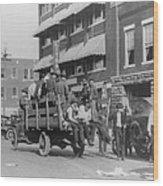 Truck On Street Near Tulsa, Oklahomas Wood Print