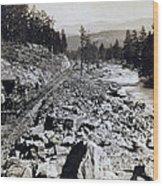 Truckee River - California - C 1865 Wood Print