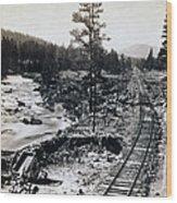 Truckee River - California Looking Toward Donner Lake - C 1865 Wood Print