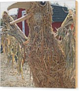 Truly A Scarecrow Wood Print