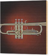 Trumpet Red Spotlight  Wood Print