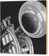 Trumpet Up Front Wood Print