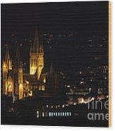 Truro Cathedral Illuminated Wood Print